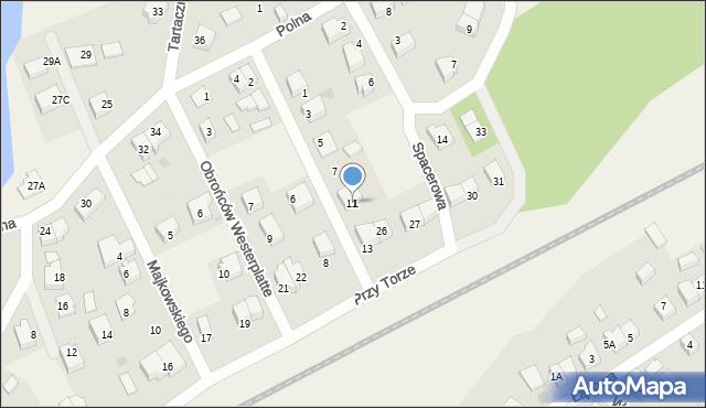 Luzino, Wojska Polskiego, 11, mapa Luzino