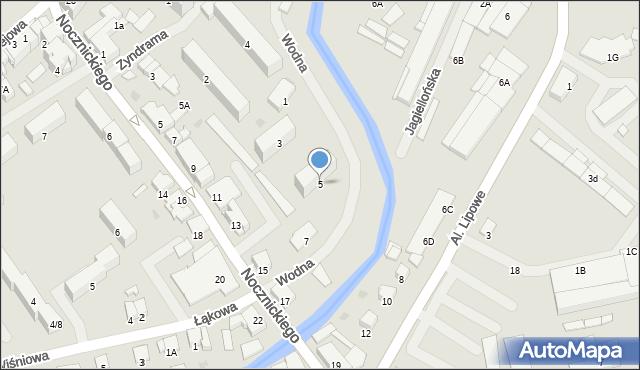 Olecko, Wodna, 5, mapa Olecko