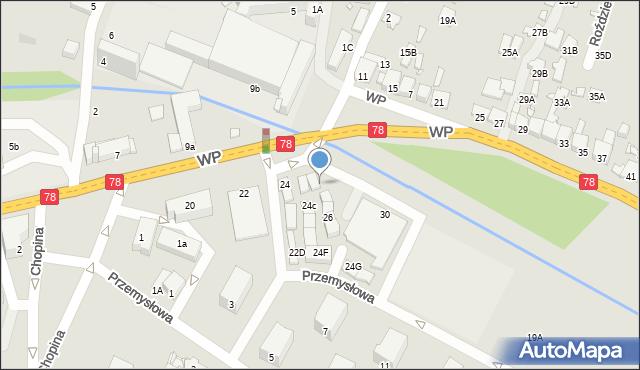 Poręba, Wojska Polskiego, 24a, mapa Poręba