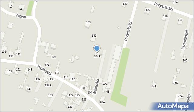 Poręba, Wolności, 104A, mapa Poręba