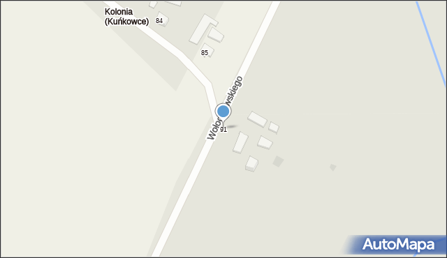 Przemyśl, Wołodyjowskiego Michała, 91, mapa Przemyśla