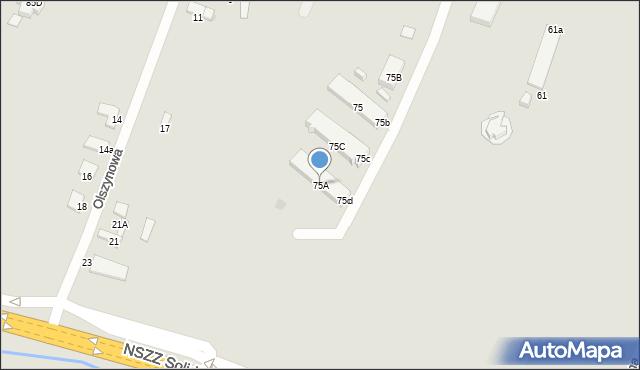Radom, Wolanowska, 75A, mapa Radomia
