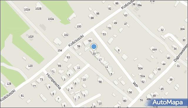 Rudnik nad Sanem, Wojska Polskiego, 23, mapa Rudnik nad Sanem