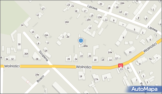 Sokołów Podlaski, Wolności, 22A, mapa Sokołów Podlaski