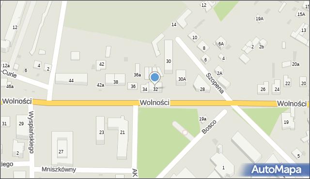 Sokołów Podlaski, Wolności, 32, mapa Sokołów Podlaski