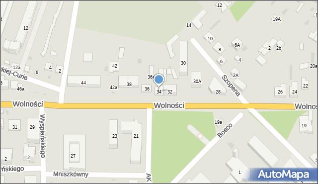 Sokołów Podlaski, Wolności, 34, mapa Sokołów Podlaski