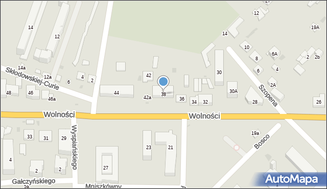 Sokołów Podlaski, Wolności, 38, mapa Sokołów Podlaski