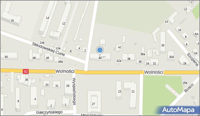 Sokołów Podlaski, Wolności, 44, mapa Sokołów Podlaski