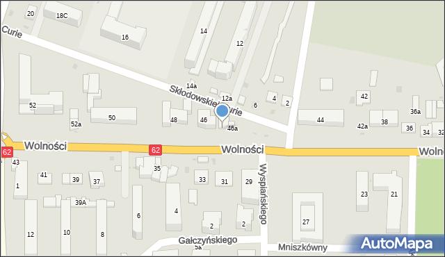 Sokołów Podlaski, Wolności, 46b, mapa Sokołów Podlaski