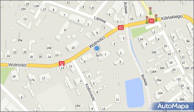 Sokołów Podlaski, Wolności, 7A, mapa Sokołów Podlaski