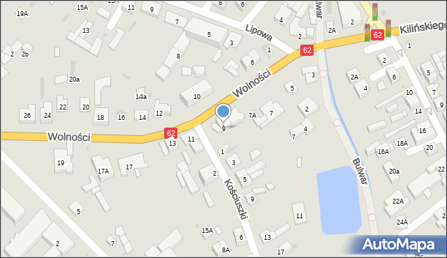 Sokołów Podlaski, Wolności, 9, mapa Sokołów Podlaski