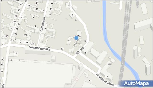 Sosnowiec, Wodna, 2/II, mapa Sosnowca
