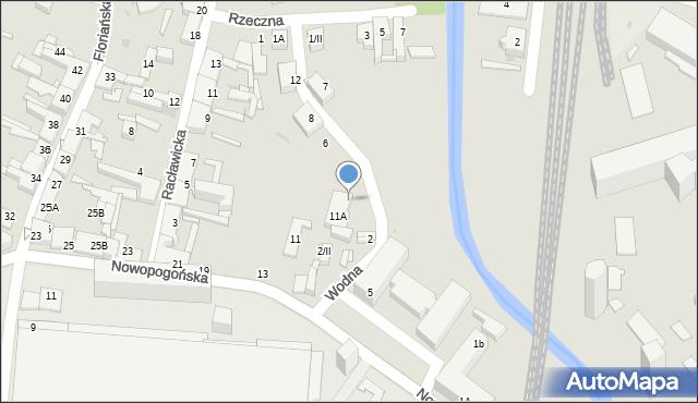 Sosnowiec, Wodna, 2A, mapa Sosnowca