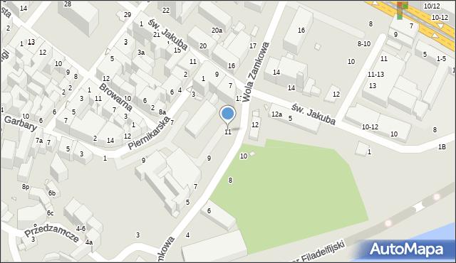 Toruń, Wola Zamkowa, 11, mapa Torunia
