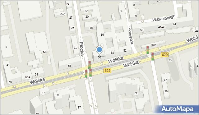 Warszawa, Wolska, 56, mapa Warszawy