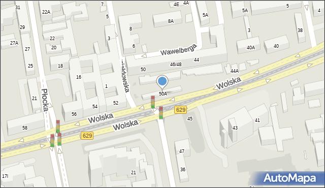 Warszawa, Wolska, 50A, mapa Warszawy