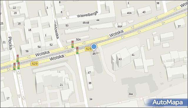Warszawa, Wolska, 45B, mapa Warszawy