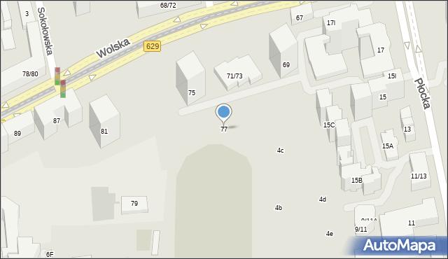 Warszawa, Wolska, 77, mapa Warszawy