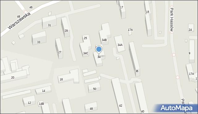 Warszawa, Wojciechowskiego Stanisława, 34, mapa Warszawy