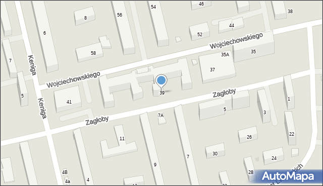 Warszawa, Wojciechowskiego Stanisława, 39, mapa Warszawy