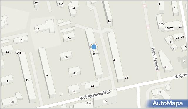 Warszawa, Wojciechowskiego Stanisława, 42, mapa Warszawy