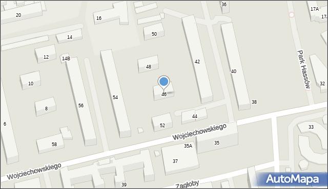 Warszawa, Wojciechowskiego Stanisława, 46, mapa Warszawy