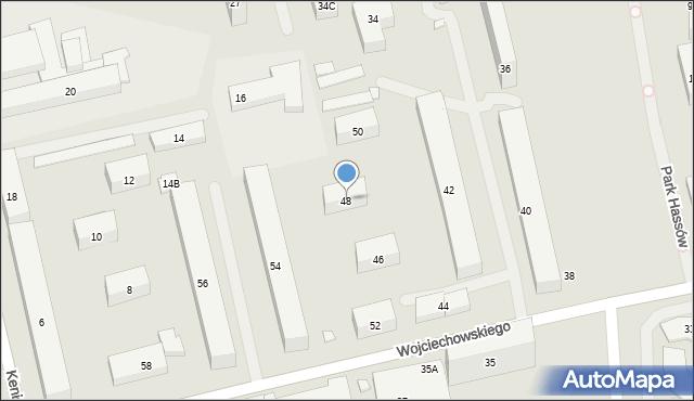 Warszawa, Wojciechowskiego Stanisława, 48, mapa Warszawy