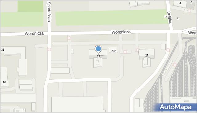 Warszawa, Woronicza Jana Pawła, 29, mapa Warszawy