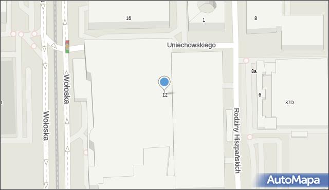 Warszawa, Wołoska, 12, mapa Warszawy