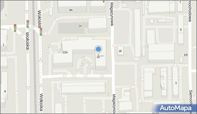 Warszawa, Wołoska, 22, mapa Warszawy
