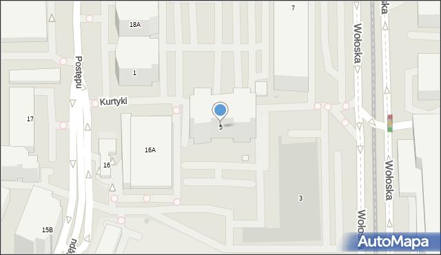 Warszawa, Wołoska, 5, mapa Warszawy