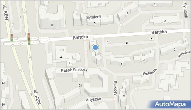 Warszawa, Wokalna, 8, mapa Warszawy