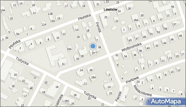 Warszawa, Wolbromska, 37, mapa Warszawy
