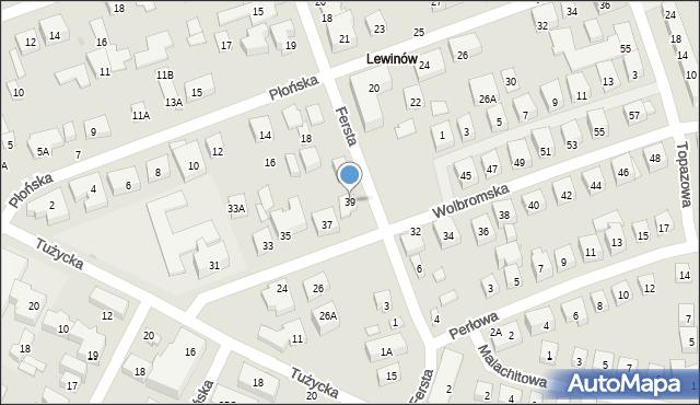 Warszawa, Wolbromska, 39, mapa Warszawy