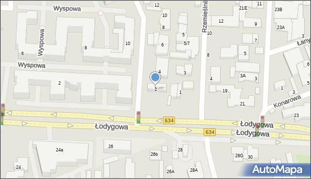 Warszawa, Wolińska, 2, mapa Warszawy