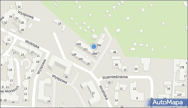 Warszawa, Wolińska, 20M, mapa Warszawy