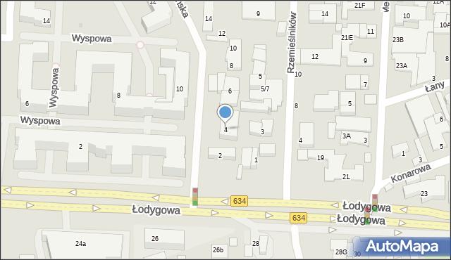 Warszawa, Wolińska, 4, mapa Warszawy