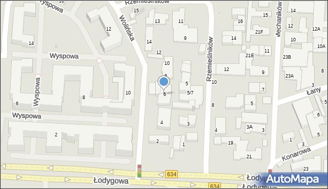 Warszawa, Wolińska, 6, mapa Warszawy