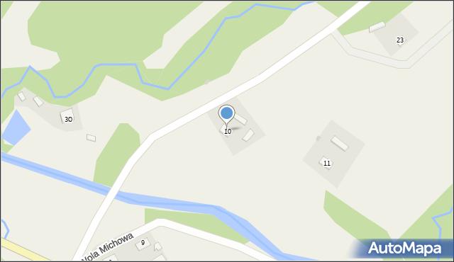 Wola Michowa, Wola Michowa, 10, mapa Wola Michowa
