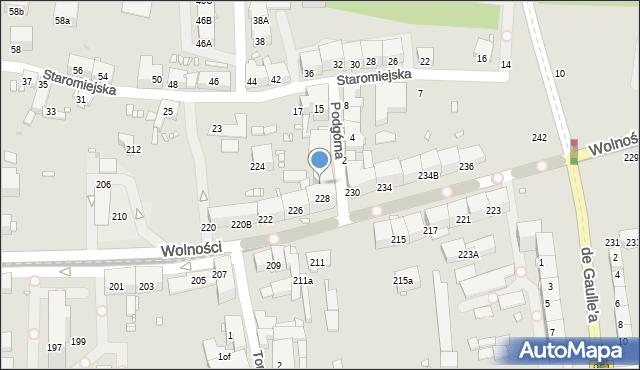 Zabrze, Wolności, 228A, mapa Zabrza