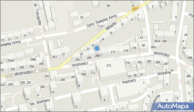 Zabrze, Wolności, 268, mapa Zabrza