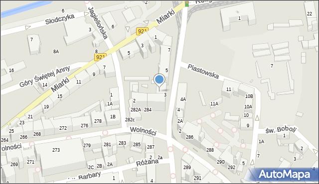 Zabrze, Wolności, 284A, mapa Zabrza