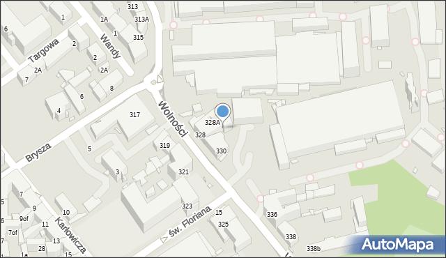 Zabrze, Wolności, 328B, mapa Zabrza