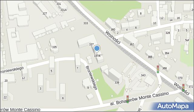 Zabrze, Wolności, 337A, mapa Zabrza