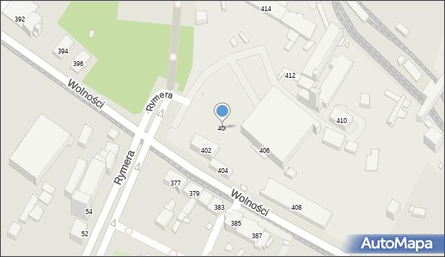Zabrze, Wolności, 40l, mapa Zabrza