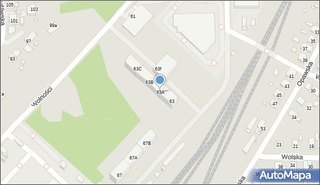 Zabrze, Wolności, 63A, mapa Zabrza