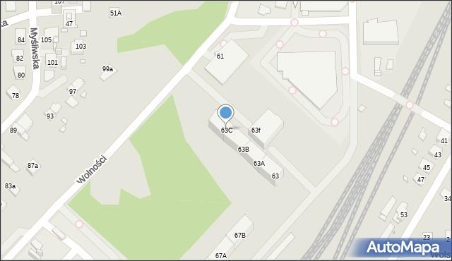 Zabrze, Wolności, 63C, mapa Zabrza