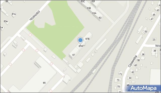 Zabrze, Wolności, 67A, mapa Zabrza