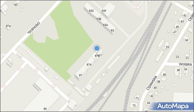 Zabrze, Wolności, 67B, mapa Zabrza