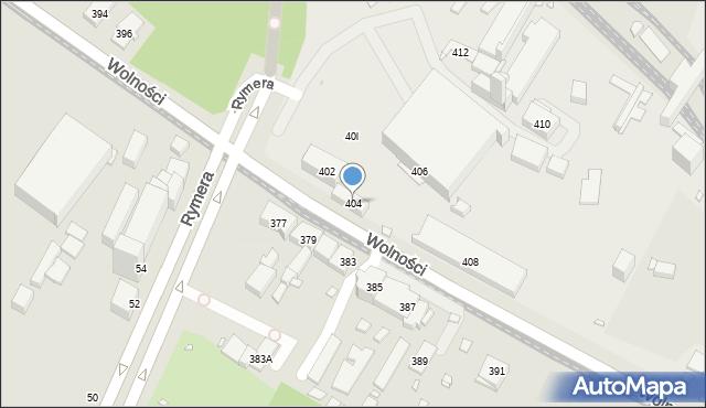 Zabrze, Wolności, 404, mapa Zabrza